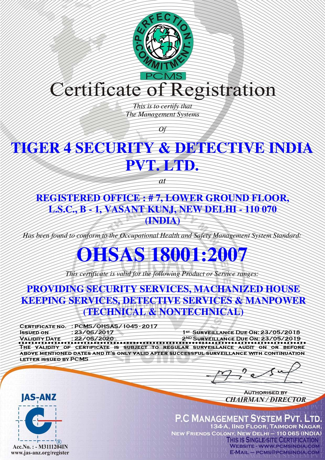 TIGER 4 SECURITY & DETECTIVE INDIA PVT. LTD - 18001-page-001