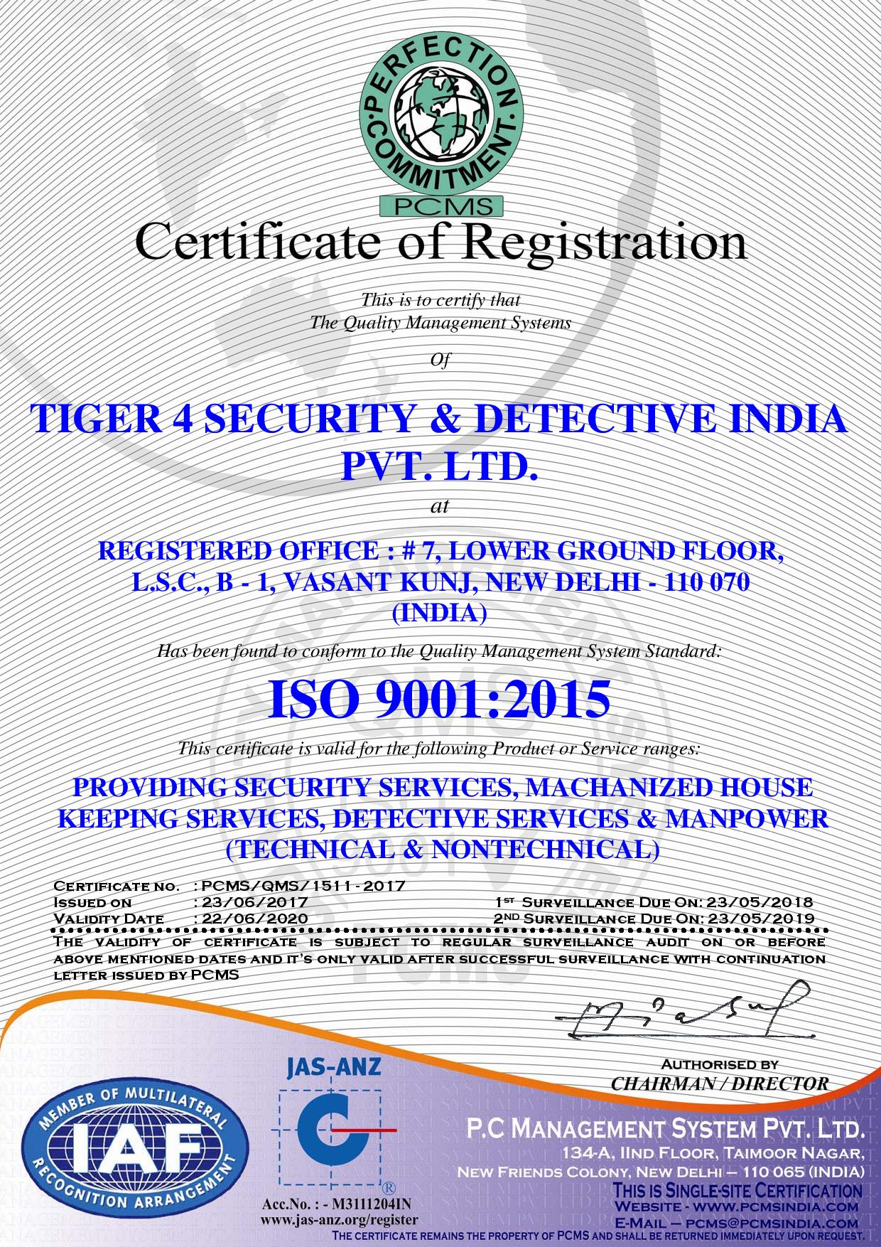 TIGER 4 SECURITY & DETECTIVE INDIA PVT. LTD. -9001-page-001